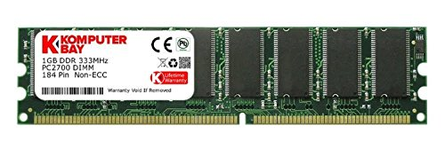 184 Pin Ddr Pc (Komputerbay 1GB DDR DIMM (184 PIN) 333Mhz PC2700 DESKTOP MEMORY (Personal Computers))