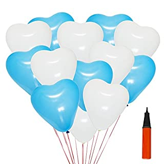 Autumn Love 200 Luftballon und 1 Ballonpumpe Herzförmigen 12