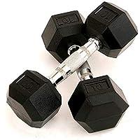 دامبل سداسي مطاطي بوزن 10 كغم| مجموعة دامبل للرجال والنساء لبناء العضلات
