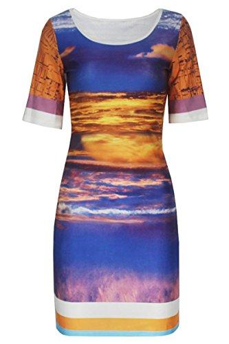 E-Girl D22226 femme mode robe mini Multicolore