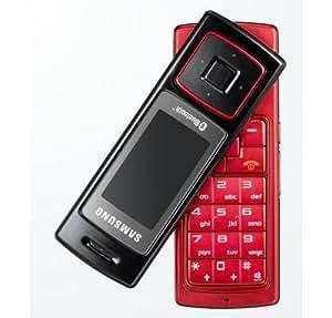 Samsung Téléphone portable SGH-F210 clavier rotatif lecteur multimédia/app.photo 2Mpix/Bluetooth stéréo/slot mémoire microSD rouge
