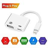 Lightning-auf-USB-Kameraadapterkabel, Lightning auf USB 3.0 OTG Adapterbuchse und aufladbares Interface für iPhone iPad, Keine App nötig [unterstützt iOS 11 und 10.3] …