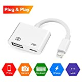 Lightning-auf-USB-Kameraadapterkabel, Lightning auf USB 3.0 OTG Adapterbuchse und aufladbares Interface für iPhone iPad