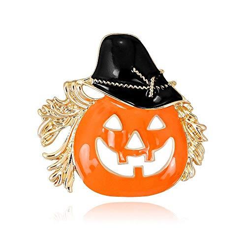 Defect Brosche Halloween-Serie Brosche amerikanische Mode Tropfen Öl Kürbis Kopf Brosche Brosche 2-teiliges Set -