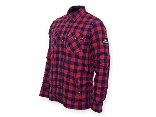 ken-Hemd Reißfest, Wasserabweisend, Rot-Schwarz Kariert, Größe 7XL (Holzfäller Outfits)