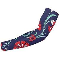 Carnations - Mangas protectoras para brazos, diseño sin costuras, protección solar, unisex, para deportes al aire libre (1 par)