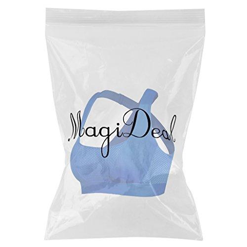 MagiDeal Donne Gilet Giacche Sportive Bra Top Gym Yoga Maglie Senza Maniche Canotte Fitness Blu