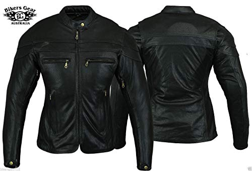 Australian Bikers Gear  – Sturgis Tour – Damen Motorrad-Lederjacke – Protektoren -52 (6XL) - 3