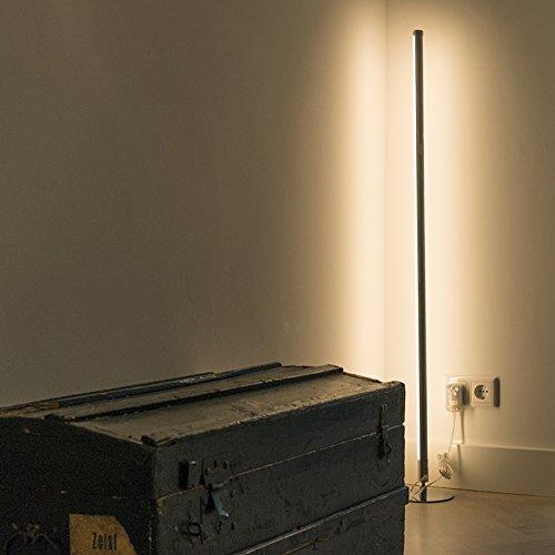 QAZQA Modern Stehleuchte / Stehlampe / Standleuchte LED Chrom Dimmer - 3