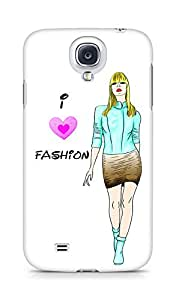 Amez designer printed 3d premium high quality back case cover for Samsung Galaxy S4 (Color sketch of a beautiful fashion young)