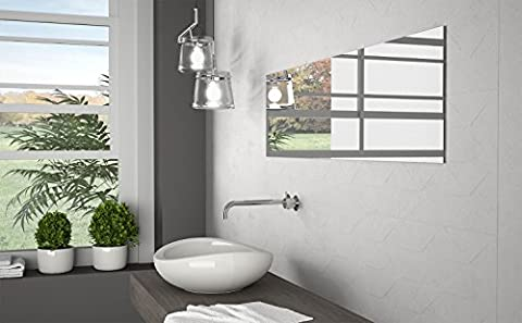 White Pattern Porcelain Matt Rectified Wall Floor Tiles Bathroom Kitchen Utility - 33 cm x 90 cm
