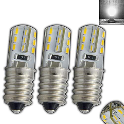 3x E14 warmweiß für Ihre Kühlschrank, Nähmaschine, Nachttischlampe oder andere kleine Lampen (1,5W - tageslichtweiß 4500K)