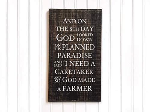 CELYCASY Schild God Made a Farmer, Geschenk für Bauern Paul Harvey Gedicht Zitate über die Landwirtschaft