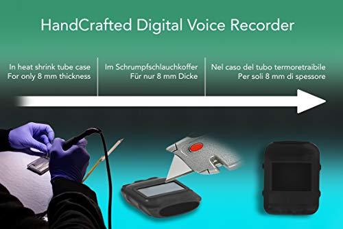 Mini Modul Spionage Rekorder Stimmenaktivierter 8GB – 570 Stunden | Nur 8mm dünn | HD Stimme 1536kbps | 24 Stunden Batterie | Wählbare Aufnahmequalität | Gehäuse aus Schrumpfschlauch