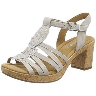 Gabor Shoes Damen Comfort Sport Riemchensandalen, Beige (Taiga (Kork)), 44 EU