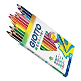 Giotto Mega Tri Colouring Pencils (12 Pack)