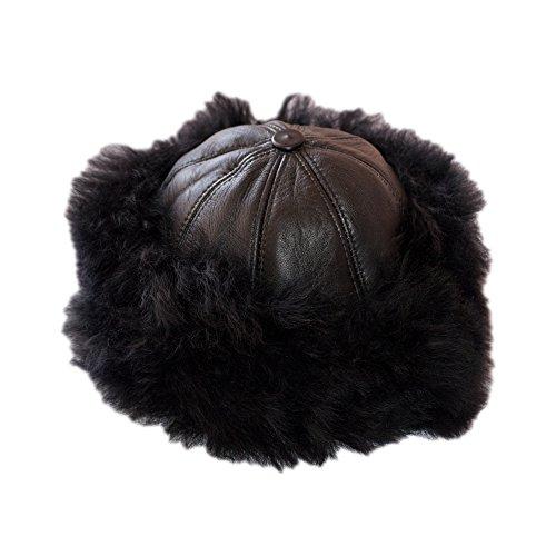 Dazoriginal cappello cossack donna moda russo cappello elegante cappello di pelliccia 100% vera pelle womens ski cappello cappello per l'inverno colbacco in pelliccia berretto da donna ushanka cappello pelliccia da donna in stile cosacco russo nero