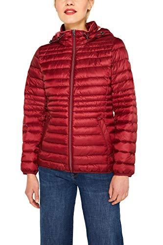 ESPRIT Damen 079Ee1G001 Jacke, Rot (Dark Red 610), Large (Herstellergröße: L)