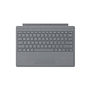 Microsoft Surface Pro Signature Type Cover Keyboard, LED Backlight Keyboard Platino