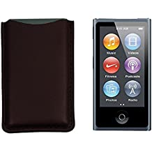 Lucrin - Funda para iPod Nano 7G (piel), color verde rojo granate