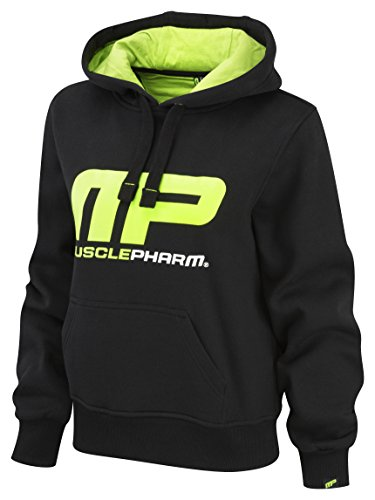 Muscle Pharm Damen Textilbekleidung Pullover Hoody Black/Lime Green