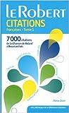 Dictionnaire de citations françaises - Tome 1 de Pierre Oster ( 27 mai 2015 ) - Le Robert (27 mai 2015) - 27/05/2015