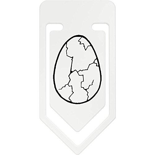 Azeeda 141mm 'Gebrochenes Ei' Riesige Plastik Büroklammer (CC00007834)