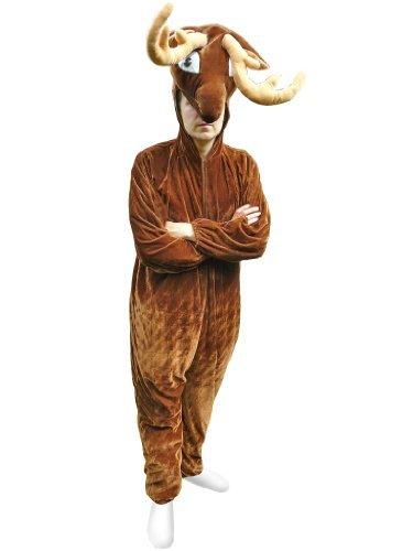 Hirsch-Kostüm, Su07 Gr. M-L, Hirsch-Faschingskostüme für Männer und Frauen, Rentier-Kostüm, Elch Elche Hirsche für Fasching Karneval Fasnacht, Karnevals-Kostüme, Faschings-Kostüme, ()