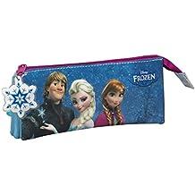 Frozen Friends Forever Portatodo Triple, Color Azul