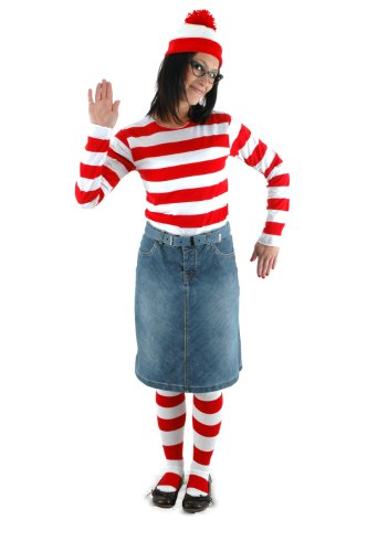 Für Kit Waldo Kostüm Wheres Erwachsene - Elope Womens Where's Waldo Wenda Kostüm Kit