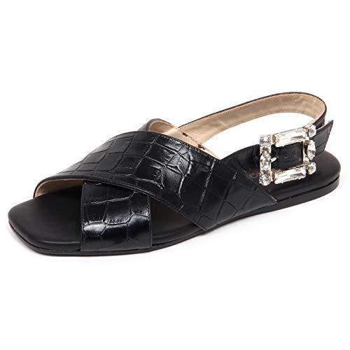 ANNA BAIGUERA F4176 Sandalo Donna Black Ave Scarpe Shoe Woman [41]