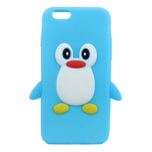 Deltenre Shop-Cover in silicone a forma di pinguino, per Samsung Galaxy S4, S3, S5-iPhone 4/4S-5/5S, 5C, 6, iPod Touch 5, iPod Nano 7 blu