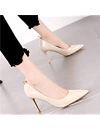 f3b884743 HRCxue Zapatos de la Corte Joker señaló Boca Baja Zapatos Solos Negros  Temperamento era Delgado Color