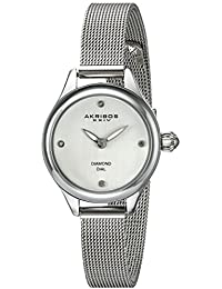 Akribos XXIV Reloj con movimiento cuarzo japonés Woman AK873SS 26.0 mm