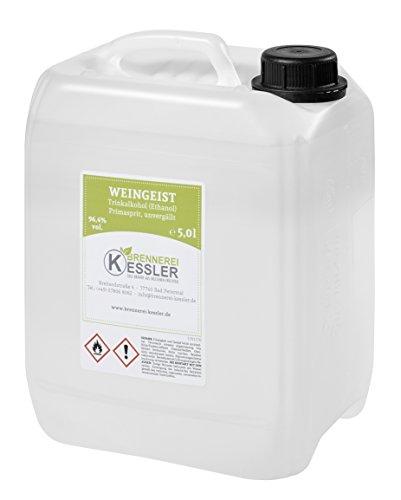 Weingeist Primasprit Ethanol 96,4% - 5000ml - Brennerei Kessler