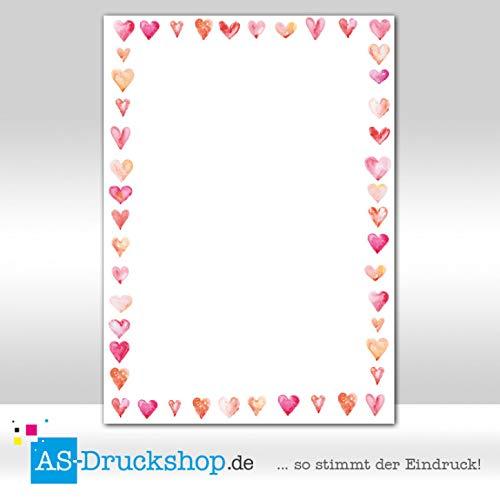 Träume Blatt (Designpapier Herz - Traum / 100 Blatt/DIN A4)