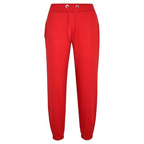A2Z 4 Kids Kinder Jungen Mädchen Jogging Hose Jogging - Fleece Trouser Red 3-4