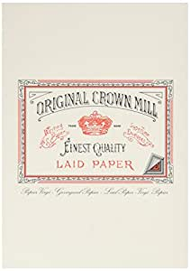 Original Crown Mill A5 Classic Line Texture Laid Writing Pad - Cream (Pack of 50 Sheets)