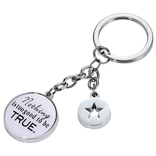 troika-nothing-is-too-good-kr17-26-ch-slogan-keyring-2-charms-circle-star-badge-slogannothing-is-too