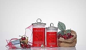 BellaKerzen bougie parfumée avec kirschparadies en argent sterling 925 en forme de petite surprise à 500 eUR/avec emballage cadeau-grand (80–120 heures)