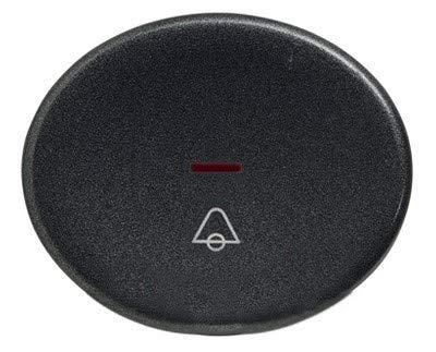 Niessen tacto - Tecla pulsador con visor simbolo timbre tacto antracita