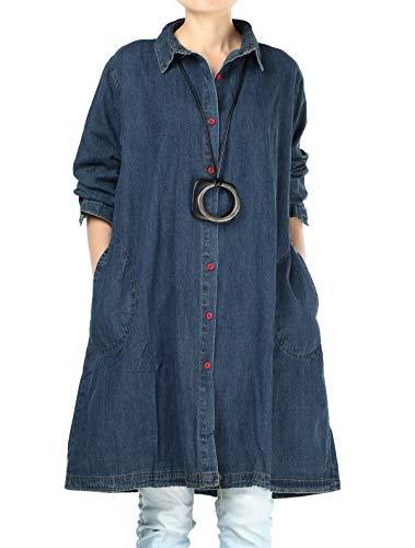 Mallimoda - camicia - tinta unita - classico - donna blue xxl
