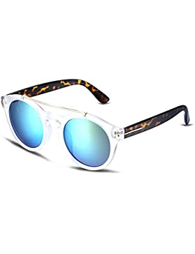 NYKKOLA mujer Aviator Gafas de sol UV400espejo gafas de sol polarizadas para conducir viajes pesca Golf, transparent...
