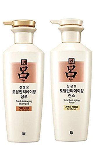 Ryoe Korean Jinsaengbo Total Anti Aging Shampoo + Rinse White 400ml by Amore Pacific