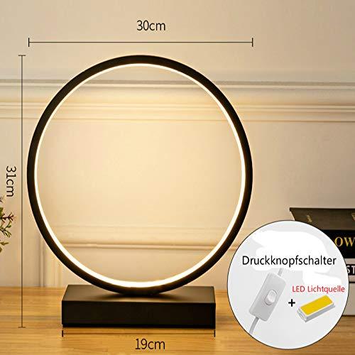 XIEPEI Blei Tischlampe kreative Schlafzimmer Nachttischlampe Hochzeitsgeschenk Hochzeit Hochzeitszimmer Geschenk Studie Nachtlicht Einfaches rundes Schwarzes Warmes Licht