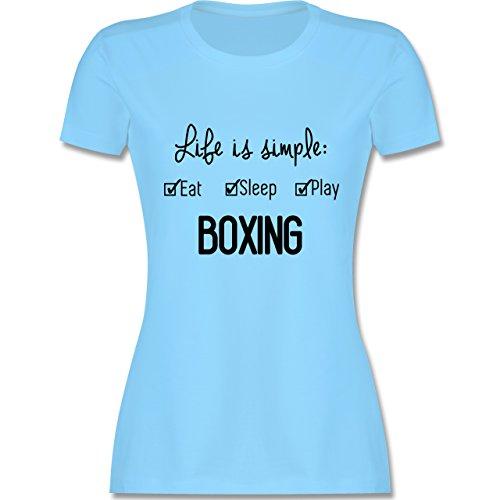 Kampfsport - Life is simple Boxing - tailliertes Premium T-Shirt mit  Rundhalsausschnitt für Damen