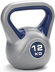 York Fitness Kettlebell, bleu/argent, 12 kg