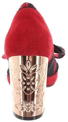 Irregular Choice, Scarpe col tacco donna Rosso