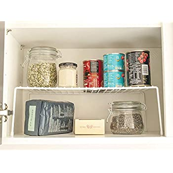 Simplywire Kitchen Cupboard Organiser Wire Storage Rack Shelf Insert Free Standing White