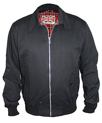 Skytex UK Harrington-Jacke Klassisch/Retro/Mod, in 10 Farben erhältlich, Größen XS-8XL Gr. XXXL, schwarz -